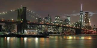New York City en la noche imagen de archivo libre de regalías