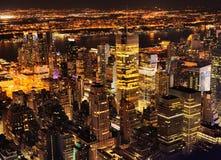 New York City en la noche Imagenes de archivo