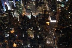 New York City en la noche Imagen de archivo