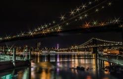New York City en la noche foto de archivo