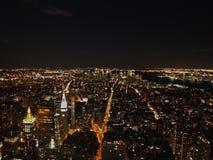 New York City en la noche del Empire State Building, 2008 Fotos de archivo libres de regalías