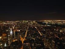 New York City en la noche del Empire State Building, 2008 Fotografía de archivo libre de regalías