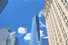 New York City en NY, los E.E.U.U. 19 de junio de 2017 - una construcción del World Trade Center Foto de archivo