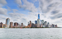 New York City en un día nublado imagen de archivo