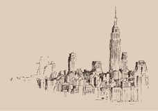 New York city engraving Stock Image