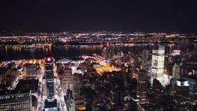New York City entro la notte Immagini Stock
