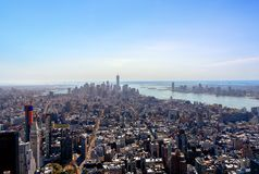 New York City, Etats-Unis d'Amérique - 12 avril : Manhattan Image stock