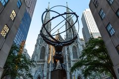 New York City/Etats-Unis - 19 juillet 2018 : Cathédrale du ` s de St Patrick et S photographie stock libre de droits