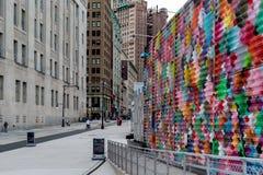 New York City/Etats-Unis - 20 juin 2018 : Immeubles de bureaux dans le Finan Photos libres de droits