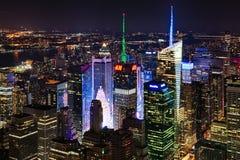 New York City, EUA - da parte alta da cidade e Times Square Foto de Stock