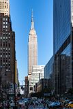 New York City/EUA - 13 de julho de 2018: Opinião franco do Empire State Building Fotografia de Stock Royalty Free