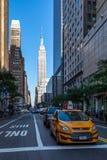 New York City/EUA - 13 de julho de 2018: Opinião franco do Empire State Building Fotografia de Stock