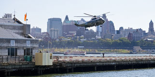 NEW YORK CITY, EUA, Sikorsky VH-3D Fotografia de Stock