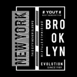 New york city evolution graphic typography t shirt royalty free stock photo