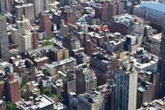 New York City fågels sikt för öga Royaltyfria Bilder