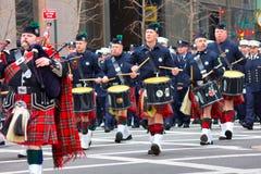 Dagen för St. Patricks ståtar NYC Arkivbilder