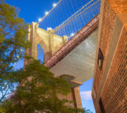 New York City. Famous landmark of Brooklyn Bridge Royalty Free Stock Photography