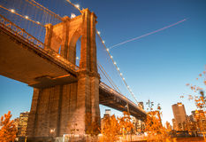 New York City. Famous landmark of Brooklyn Bridge Royalty Free Stock Images