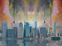 New York City Fantasy Royalty Free Stock Images