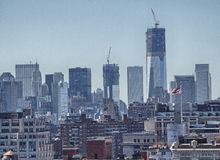 NEW YORK CITY - FEB 24: View of Manhattan Modern Buildings, Febr Stock Images