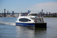 New York City Ferry boat at East River Royalty Free Stock Photo