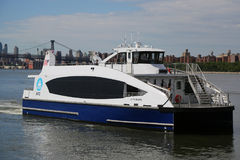 New York City Ferry boat at East River Royalty Free Stock Photography