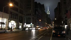The New York City fifth Avenue stock footage