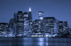 New York City financial district stock images