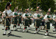 New York City Fire Department Bagpipe Marching Band royalty free stock photo