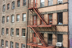 New York City fire escapes Stock Photo