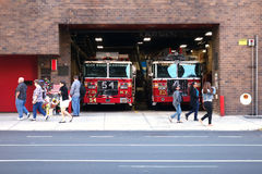 New York City Fire House Royalty Free Stock Images