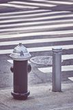 New York City fire hydrant. Color toning applied, USA stock photography