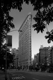 New York City - Flatiron Building. Filigreed Flatiron Building stands prominent in a triangle of avenues and streets Royalty Free Stock Photography
