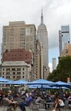 New York City Flatiron District 23rd Street Busy People Empire State Building Landmark stock photos