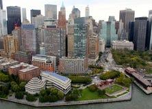 New York City flyg- sikt östliga Manhattan Royaltyfri Fotografi