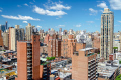 New York City flyg- sikt Royaltyfri Fotografi