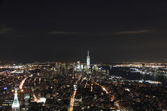 New York City flyg- sikt Manhattan Arkivfoto