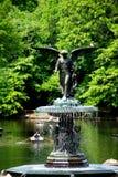 New York City : Fontaine de Bethesda dans Central Park Photographie stock libre de droits