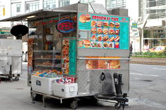 New York City Food Cart Stock Image