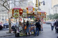 New York City Food Cart Royalty Free Stock Photography