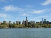 New York City från Hudson River Royaltyfria Bilder