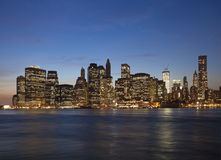 The New York City with the Freedom tower Stock Photography