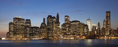 The New York City with the Freedom tower Royalty Free Stock Images