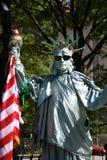 New York City: Freiheitsstatue Pantomimen Lizenzfreie Stockfotografie