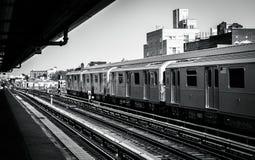 New York City - gångtunnel Arkivfoto