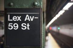 New York City gångtunneltecken Royaltyfri Fotografi