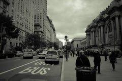 New York City gata Scape arkivfoton