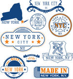 City stamps collection stock vector illustration of city for New york state architect stamp