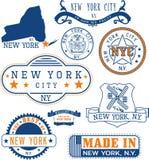 New York City, generiska stämplar och tecken Arkivbilder