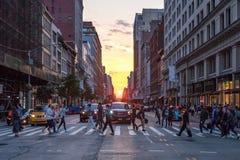 New York City genomskärning på den 23rd gatan royaltyfria bilder